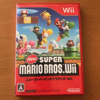 ウィー(Wii)のWii ソフト スーパーマリオブラザーズ(家庭用ゲームソフト)