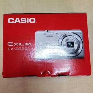 カシオ(CASIO)のcasio カシオ デジタルカメラ ex-zs25 シルバー(コンパクトデジタルカメラ)