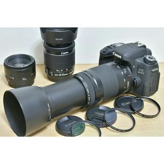 キヤノン(Canon)のCanon EOS 8000D トリプルレンズセット (デジタル一眼)