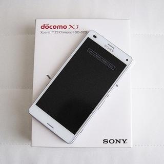 ソニー(SONY)の【外装交換品】ドコモ Xperia Z3 compact SO-02G ホワイト(スマートフォン本体)