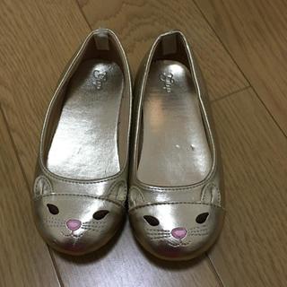 ギャップキッズ(GAP Kids)のGAP kids フォーマル靴 ゴールド16.5センチ 猫(フォーマルシューズ)