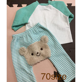 クマさんキルトパジャマ 70size (パジャマ)