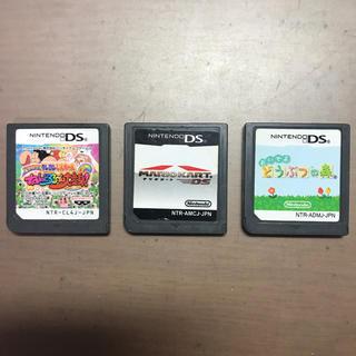 ニンテンドーDS(ニンテンドーDS)のDSマリオカート、どうぶつの森、クレヨンしんちゃんねんどろーん大変身(携帯用ゲームソフト)