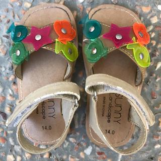 サニーランドスケープ(SunnyLandscape)のsunnyランドスケープキッズサンダル子供女の子14cm保育園児幼稚園児かわいい(サンダル)