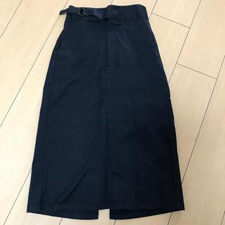 ジーユー(GU)のGU チノグルカミディスカート S(ひざ丈スカート)