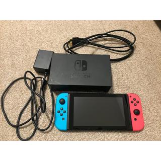 ニンテンドースイッチ(Nintendo Switch)のNintendo Switch+ソフト多数(スマブラ、マリカー、ゼノブレイド2)(家庭用ゲーム本体)
