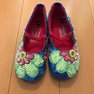 主役級にキレイな総スパンコールのお靴🌟(フラットシューズ)