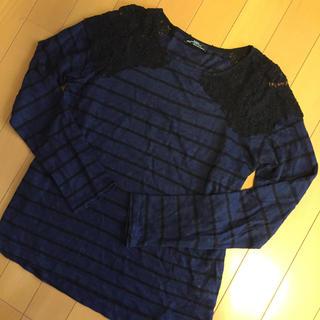 ザラ(ZARA)のZARAリネンボーダーT(Tシャツ(長袖/七分))