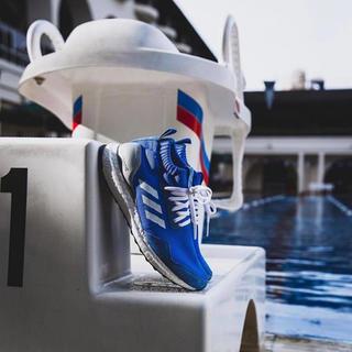 アディダス(adidas)のウルトラブースト ultraboost mid ブルー(スニーカー)