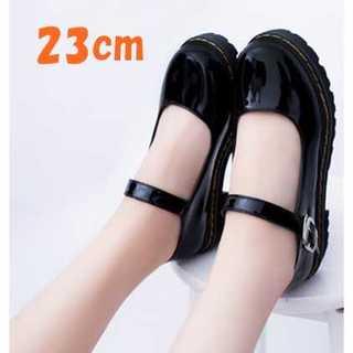 ★パンプス★レディース 靴 かわいい 歩きやすい 黒 23cm ゴスロリシューズ(ハイヒール/パンプス)