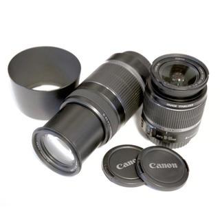 キヤノン(Canon)のCanon EF-S 18-55mm 55-250mm IS ダブルレンズ 美品(レンズ(ズーム))