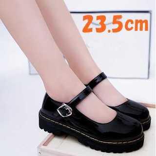 「送無」レディース パンプス 靴 シューズ ベルト付き 歩きやすい 23.5 黒(ハイヒール/パンプス)