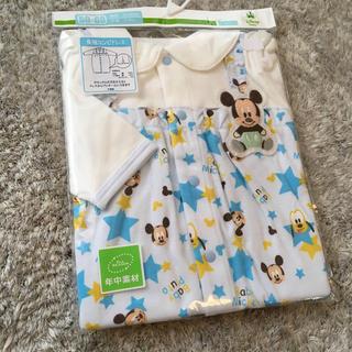 ディズニー(Disney)の新品 ディズニーベビー  長袖コンビドレス  ミッキーマウス (セレモニードレス/スーツ)