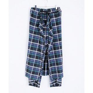 オータ(ohta)のohta 18ss  check wide pants(カジュアルパンツ)
