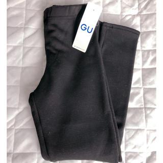ジーユー(GU)のGU キッズ 裏起毛レギンス ブラック(パンツ/スパッツ)