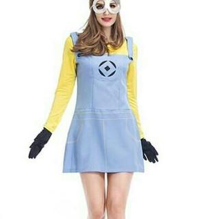 ユニバーサル ミニオンズ ワンピース コスプレ衣装 ハロウィン Mサイズ (衣装一式)