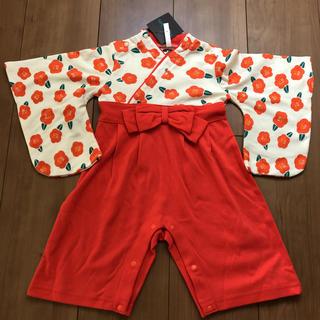 新品 袴ロンパース 80 女の子 ひな祭り 100日祝い(和服/着物)
