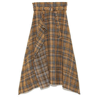 ミラオーウェン(Mila Owen)のMila Owen ヘムラインツイードスカート(ロングスカート)