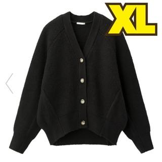 ジーユー(GU)の新品!GU★大人気ドルマンコクーンカーディガン★ブラック黒XL(カーディガン)
