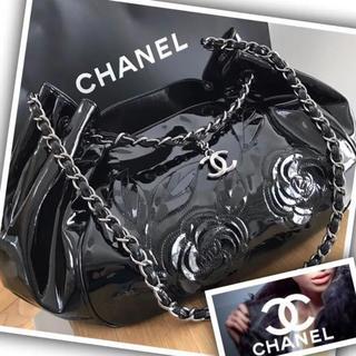 シャネル(CHANEL)の【美品で可愛い】CHANEL バッグ/カメリア チェーン ショルダーバッグ(ショルダーバッグ)