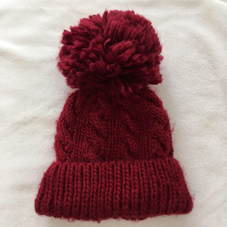 メゾンドリーファー(Maison de Reefur)のメゾンドリーファー MAISNON DE REEFUR ニット帽 赤(ニット帽/ビーニー)