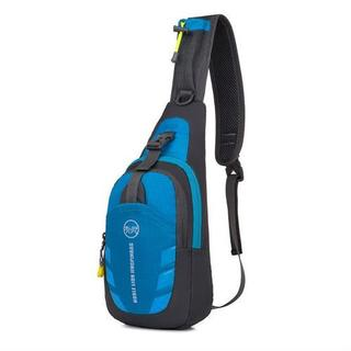 【カラー / ブルー 】 スポーティー な カジュアル メッセンジャーバッグ(メッセンジャーバッグ)