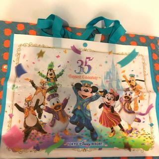 ディズニー(Disney)のディズニー 35周年 ショッピングバッグ(キャラクターグッズ)