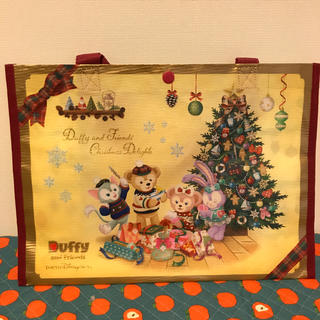 ディズニー(Disney)のディズニーシー クリスマス 2018 ショッピングバッグ ダッフィーフレンズ(キャラクターグッズ)