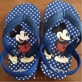 ディズニー(Disney)のミッキーバックストラップ付きサンダル 15㎝(サンダル)