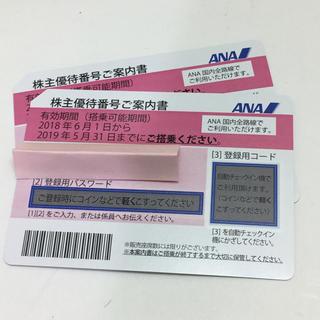 エーエヌエー(ゼンニッポンクウユ)(ANA(全日本空輸))のANA株主優待券 2枚 送料無料(航空券)