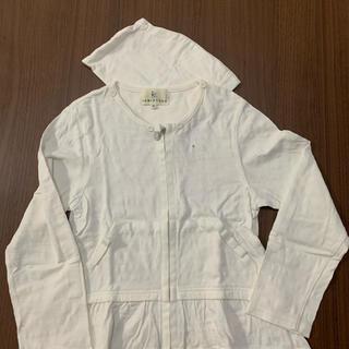 クミキョク(kumikyoku(組曲))の組曲キッズパーカー白130cm(ジャケット/上着)