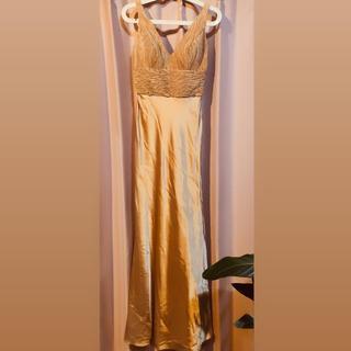 ゴールド ロングドレス(ロングドレス)