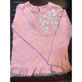 ハッカキッズ(hakka kids)のハッカキッズ長袖ピンクカットソー130cm(Tシャツ/カットソー)