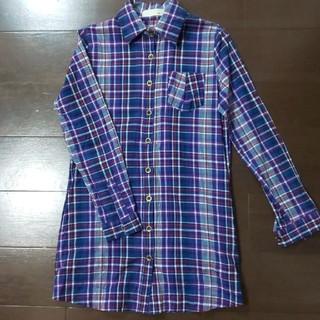 ダブルアール(WR)のWR レディースMチェックシャツ パープル(シャツ/ブラウス(長袖/七分))