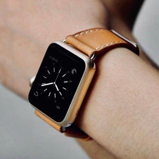 アップルウォッチ(Apple Watch)のApple watch バンド 【ブラウン】40/38mm(ラバーベルト)