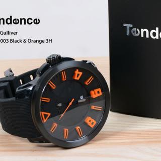 テンデンス(Tendence)のテンデンス ガリバースポーツ ブラック&オレンジ 腕時計 ユニセックス(腕時計(アナログ))