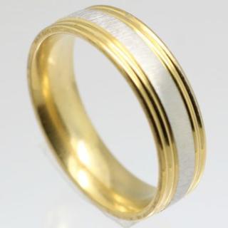 シンプルラインステンレスリング 16号 新品 クリックポスト送料無料(リング(指輪))