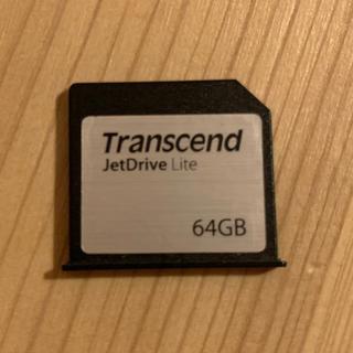 トランセンド(Transcend)のMacbook Air専用 SDスロット対応拡張メモリーカード 64GB(PC周辺機器)