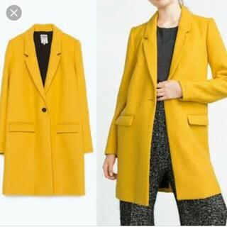 ZARA - イエロー 黄色 コート ZARA