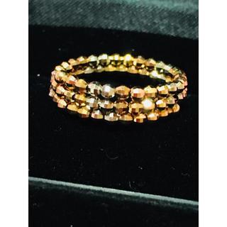 ジュエリーツツミ(JEWELRY TSUTSUMI)のジュエリーツツミ K10 ミラーボール 形状記憶 フリー リング 指輪(リング(指輪))