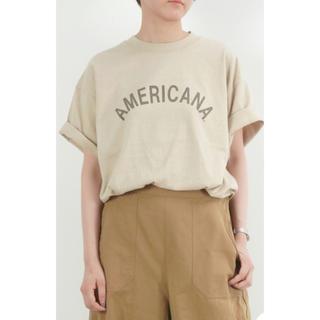 アメリカーナ(AMERICANA)のAMERICANA アメリカーナ  ロゴTシャツ(Tシャツ(半袖/袖なし))