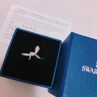 スワロフスキー(SWAROVSKI)の【2/18.19限定値下げ】新品 スワロフスキー リング  へびモチーフ(リング(指輪))