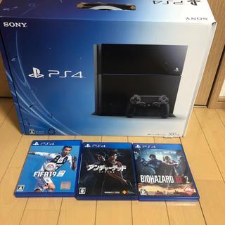 PlayStation4 - PS4 本体  バイオRE2 アンチャ fifa19 セット