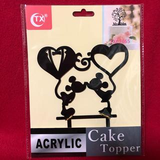 即購入大歓迎 ☆ ウェディング ケーキトッパー    ミッキー ミニー(ウェルカムボード)