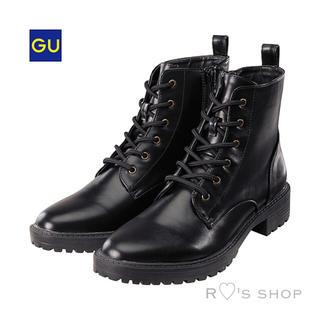 ジーユー(GU)の新品タグ付き♡レースアップブーツ 人気完売 ZARA H&M WEGO NINE(ブーツ)