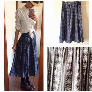 サマンサモスモス(SM2)のSM2 花柄スカート(ロングスカート)