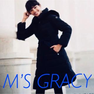エムズグレイシー(M'S GRACY)の限定SALE❣️エムズグレイシー🎀ドレスダウンコート紺42 ドレスバッグ付き(ダウンコート)