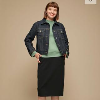 ジーユー(GU)の新品 GUタイトスカート黒(ひざ丈スカート)