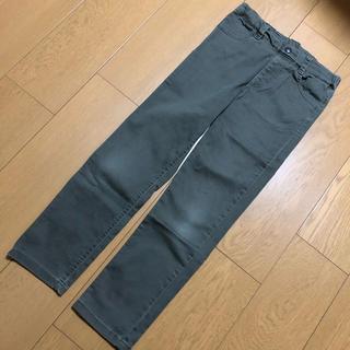 ジーユー(GU)のGU  ストレッチ パンツ  カーキ色  130cm (パンツ/スパッツ)