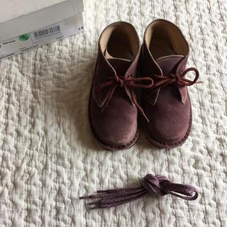 ボンポワン(Bonpoint)の【美品】イタリア製 スエード 革靴 23 14.5-15cm(ブーツ)